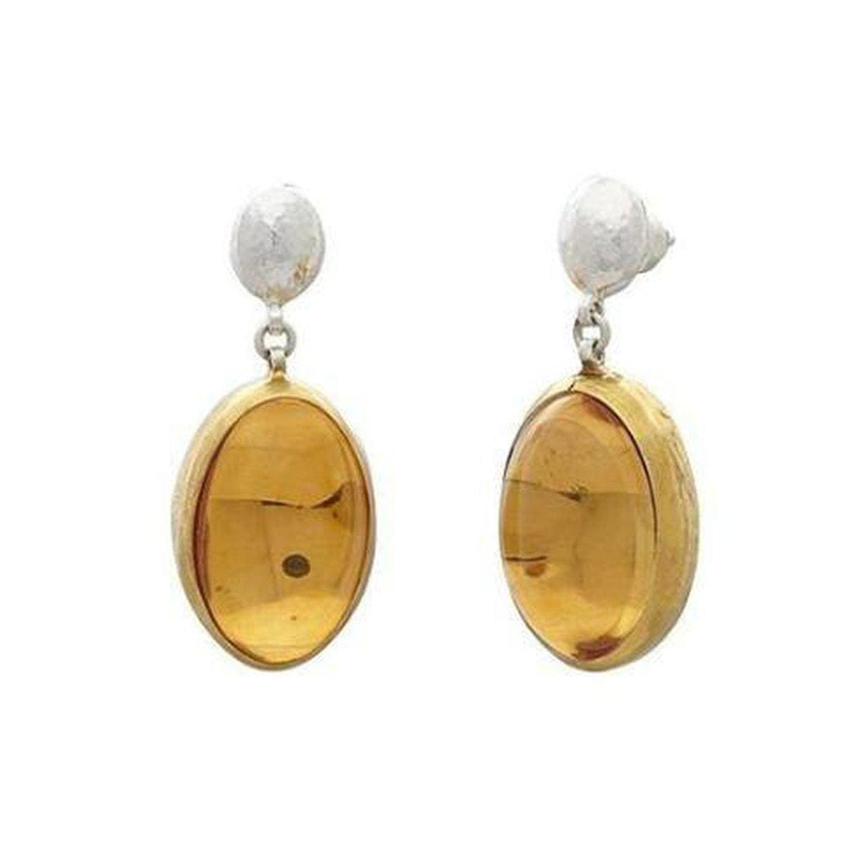Galapagos Sterling Silver Citrine Earrings - SE-U25995-GC-GURHAN-Renee Taylor Gallery