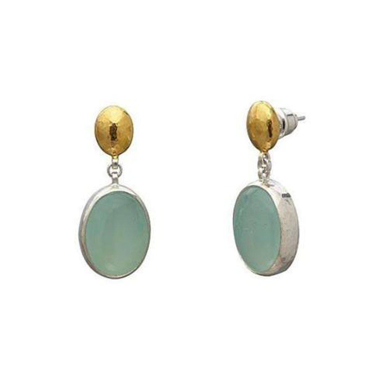 Galapagos Sterling Silver Chalcedony Earrings - SE-U26094-ACA