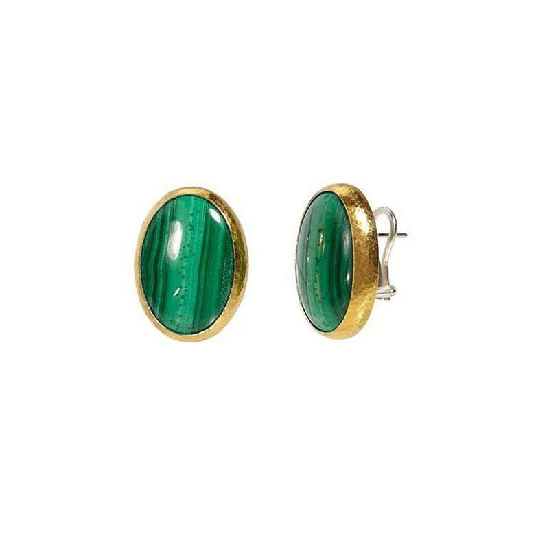 Galapagos Sterling Silver Malachite Earrings - SE-U26400-MAL-GURHAN-Renee Taylor Gallery