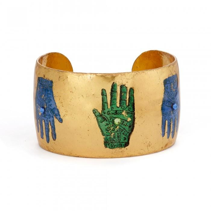 "Palm Reading 1.5"" Cuff - SL103-5-Evocateur-Renee Taylor Gallery"
