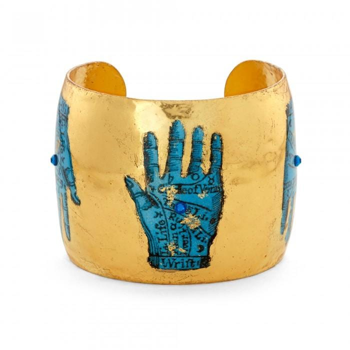 Blue Palm Reading Cuff - SL104-Evocateur-Renee Taylor Gallery