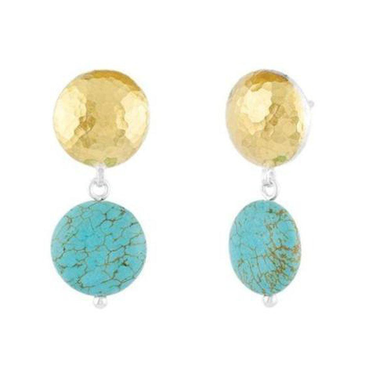 Galapagos Sterling Silver Turquoise Earrings - SLTE-CTQB-SD