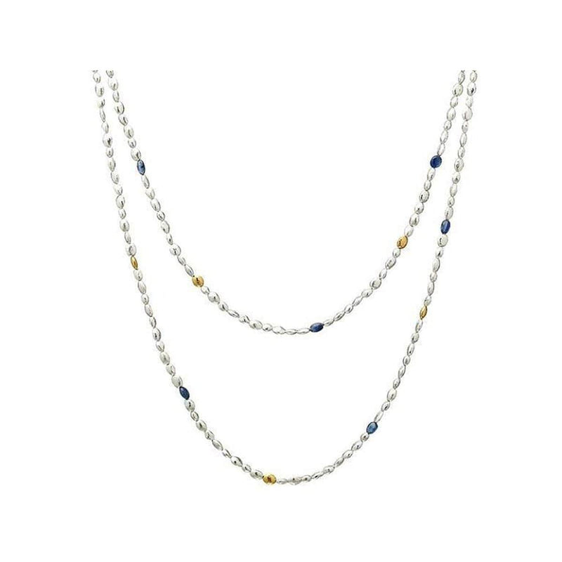 Spell Sterling Silver Kyanite Necklace - SN-NGS-6KYB-6G-40-GURHAN-Renee Taylor Gallery