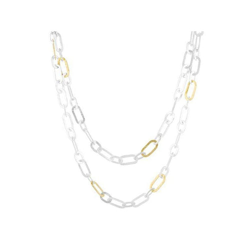 Mango Sterling Silver Necklace - SN-SMNL-12GL-AA-36-GURHAN-Renee Taylor Gallery