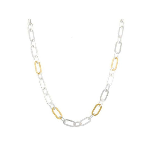 Mango Sterling Silver Necklace - SN-SMNL-4GL-AA-18-GURHAN-Renee Taylor Gallery