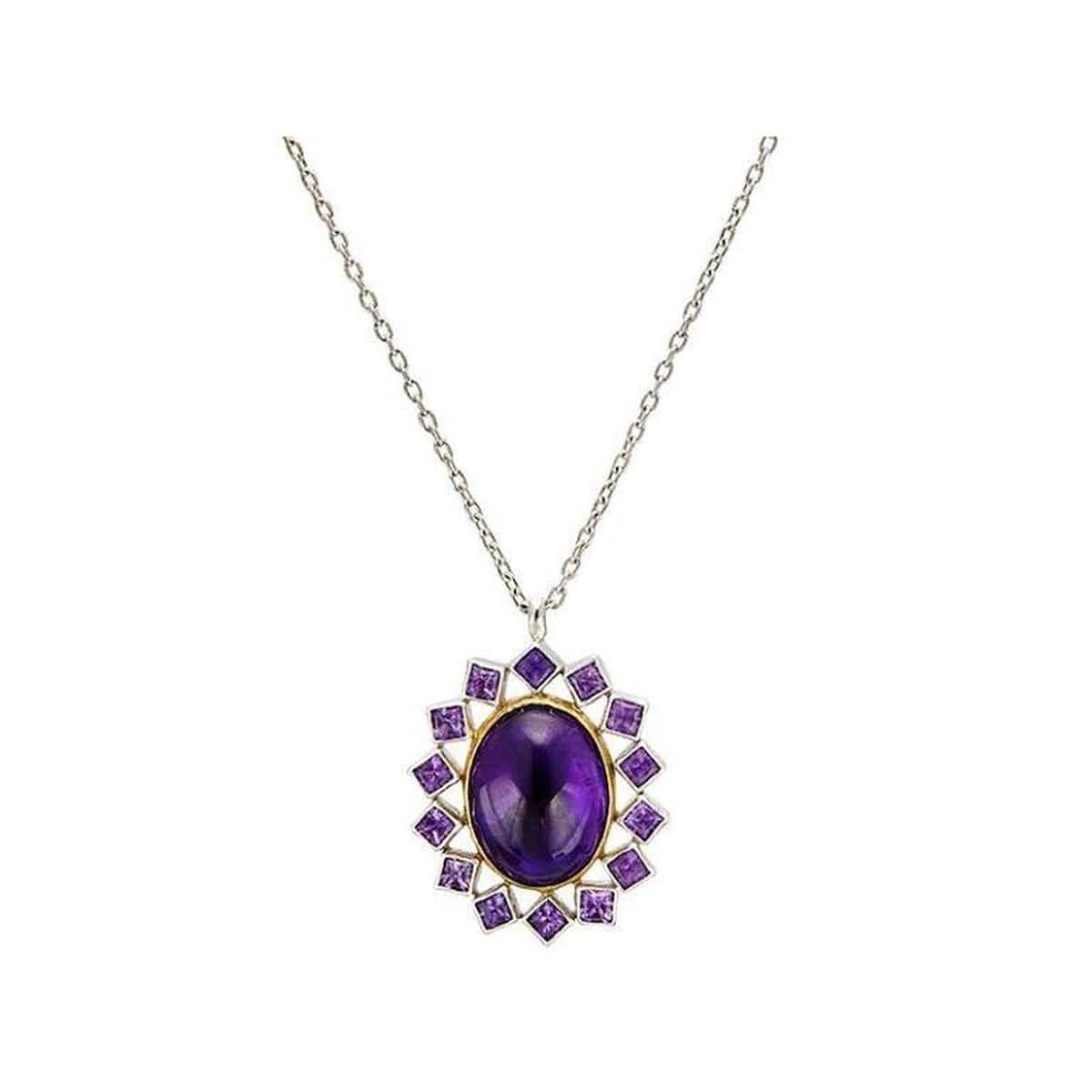 Galapagos Sterling Silver Amethyst Necklace - SN-U25375-AM-GURHAN-Renee Taylor Gallery