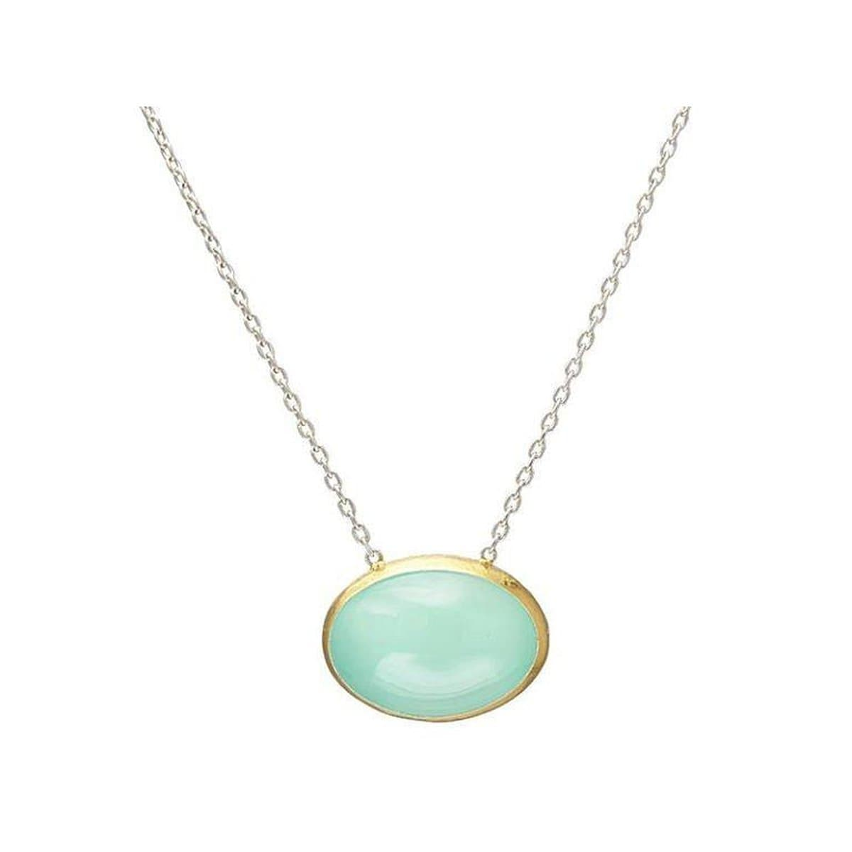 Galapagos Sterling Silver Chalcedony Necklace - SN-U26099-ACA-GURHAN-Renee Taylor Gallery