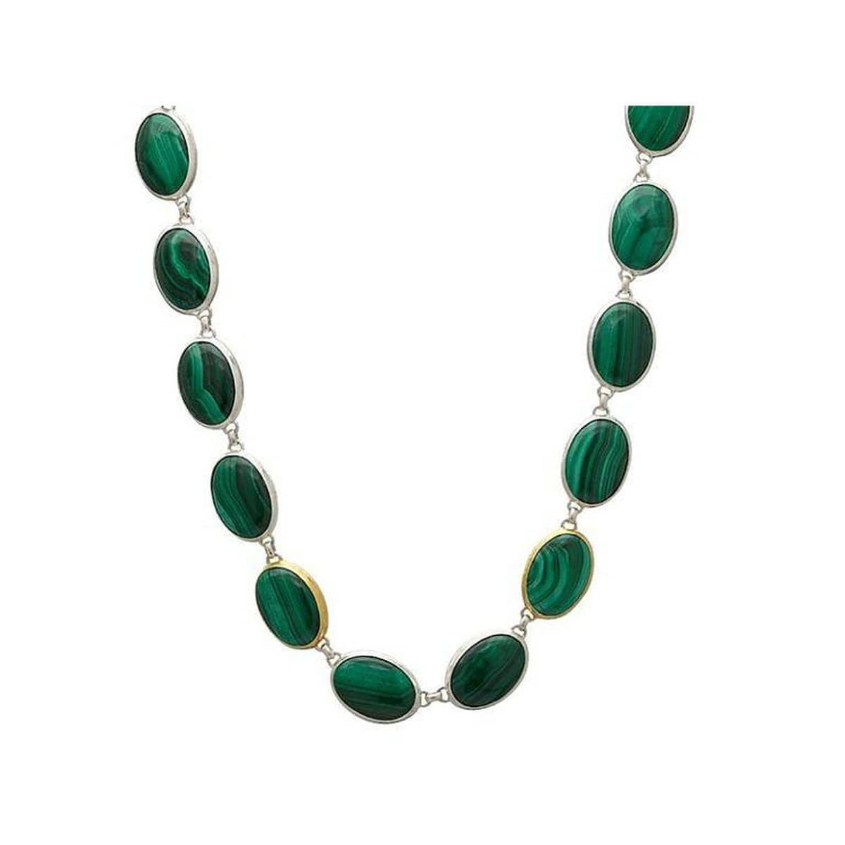 Galapagos Sterling Silver Malachite Necklace - SN-U26398-MAL-GURHAN-Renee Taylor Gallery