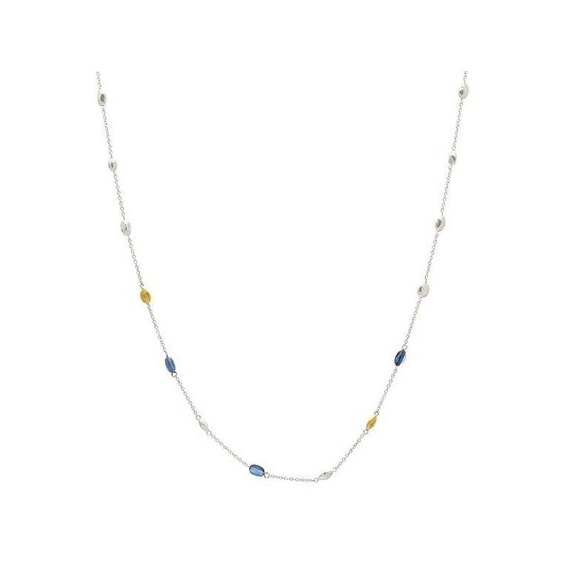 Spell Sterling Silver Kyanite Necklace - SSN-11NGS-3KYB2G-18-GURHAN-Renee Taylor Gallery