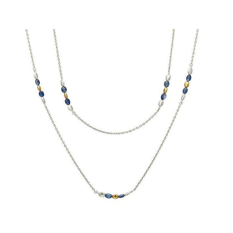 Spell Sterling Silver Kyanite Necklace - SSN-6NGS-2KYB3MXB-40-GURHAN-Renee Taylor Gallery