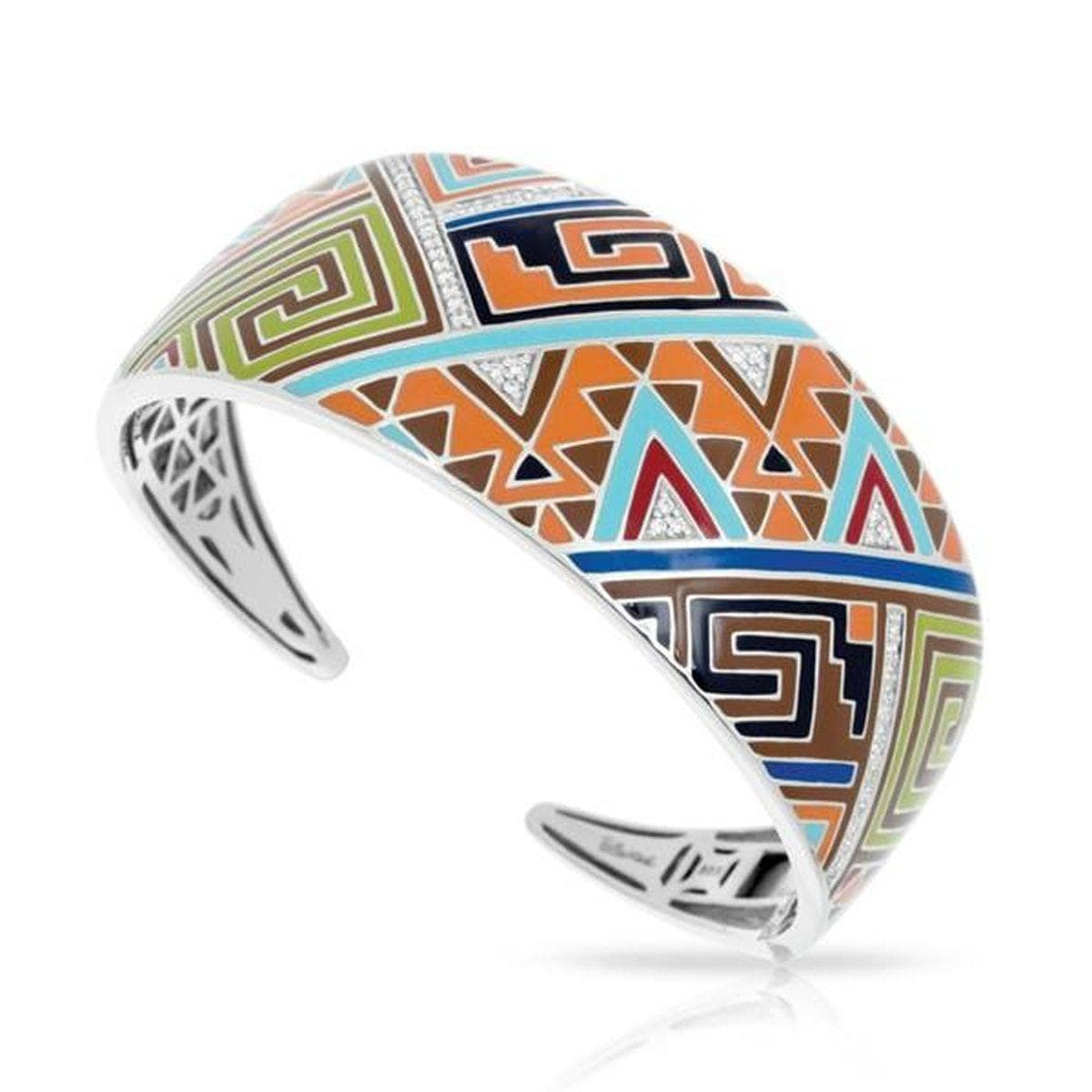 Sedona Orange Bangle-Belle Etoile-Renee Taylor Gallery