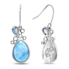 Siria Earrings - Esiri00-00-Marahlago Larimar-Renee Taylor Gallery