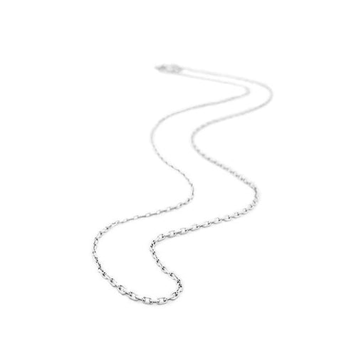 Rhodium Plated Sterling Silver Small Cable Chain-Belle Etoile-Renee Taylor Gallery