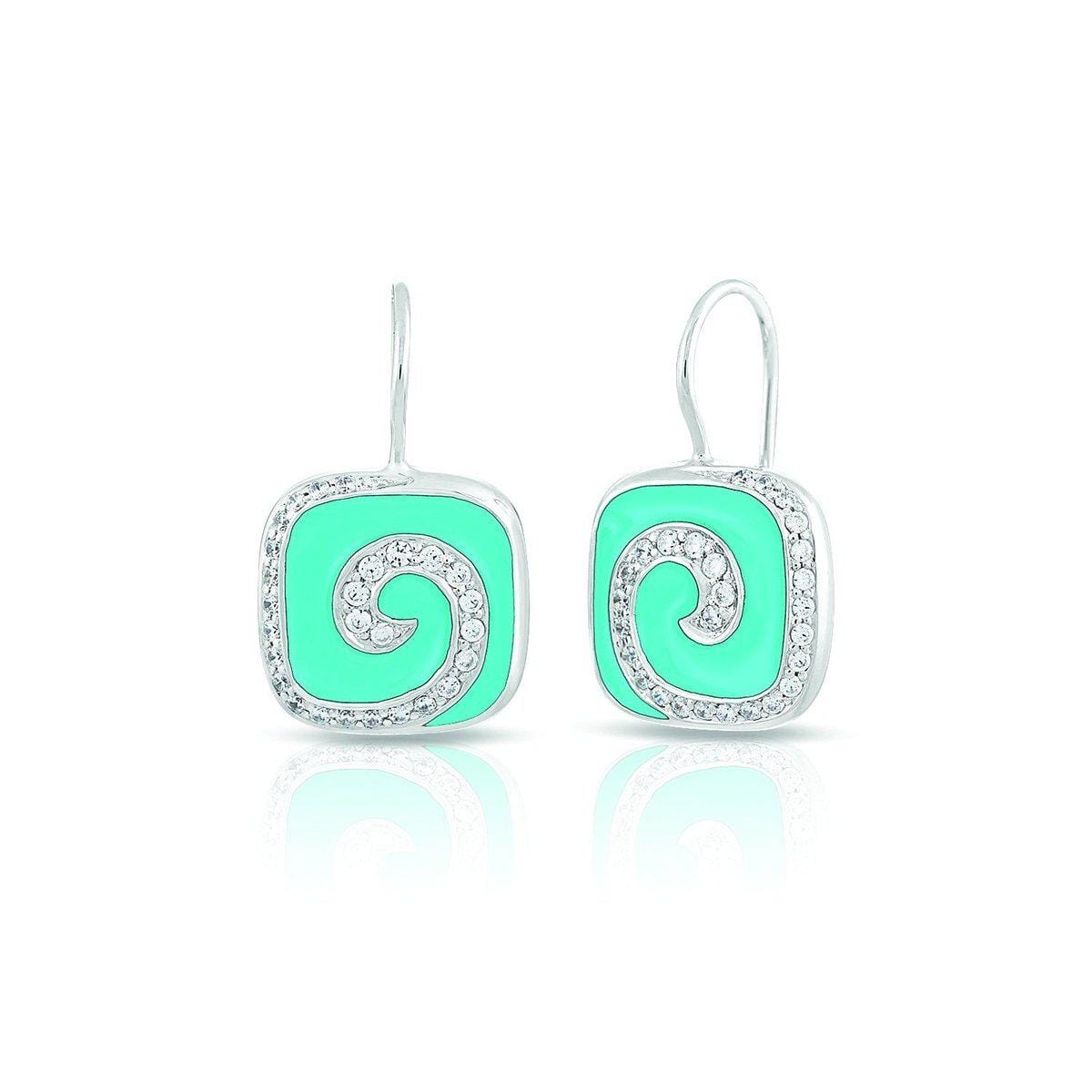 Swirl Turquoise Earrings-Belle Etoile-Renee Taylor Gallery