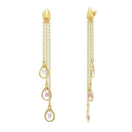 Delicate Hue 24K Gold Sapphire Earrings - TDE-3FSBPN-3FR-GRCH-GURHAN-Renee Taylor Gallery