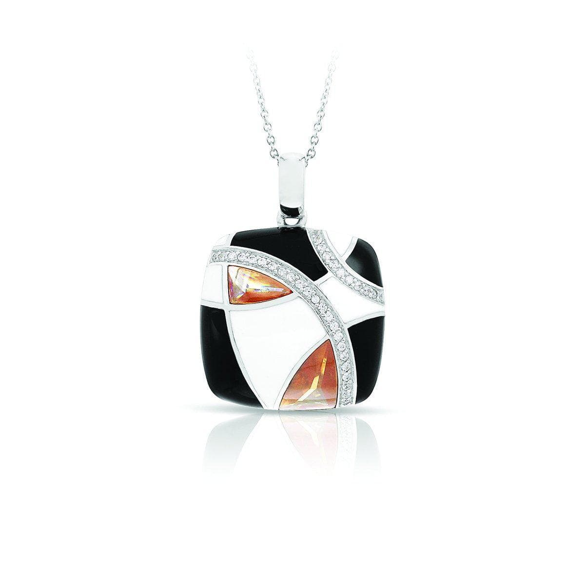 Tango Champagne, Black, & White Pendant-Belle Etoile-Renee Taylor Gallery