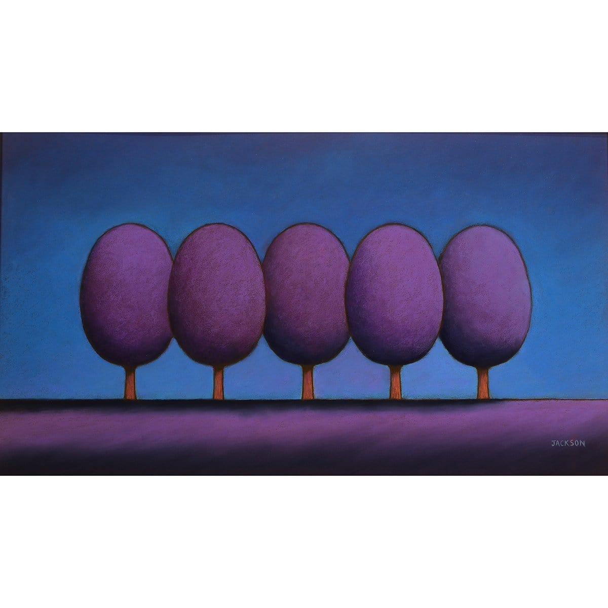 """The Purple Trees Gather for a Picture"" - Christopher Jackson"