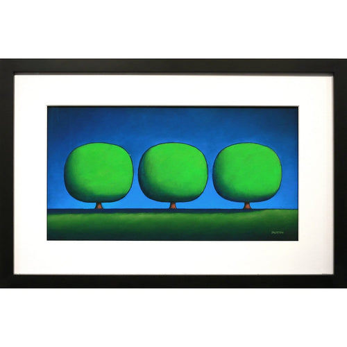 """Three Cool Green Trees""-Christopher Jackson-Renee Taylor Gallery"