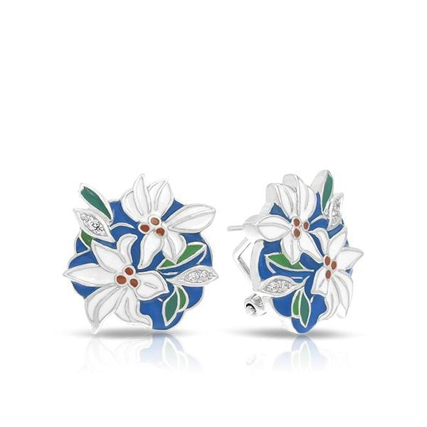 Tiger Lily Blue Earrings-Belle Etoile-Renee Taylor Gallery