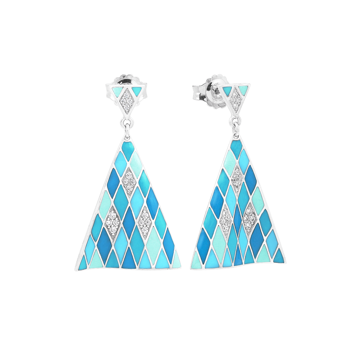 Tivoli Blue Earrings-Belle Etoile-Renee Taylor Gallery