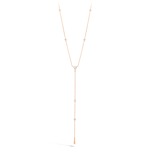 Triplicity Triangle Lariat Diamond Necklace - HFNTRIL00428-Hearts on Fire-Renee Taylor Gallery