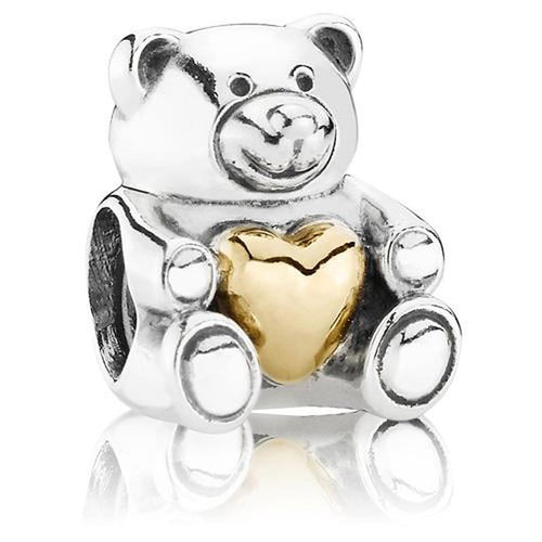 Bear My Heart 14k Gold & Silver Charm - USB790719-Pandora-Renee Taylor Gallery