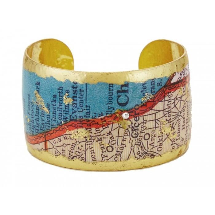Chicago Map Cuff - VO1012-Evocateur-Renee Taylor Gallery