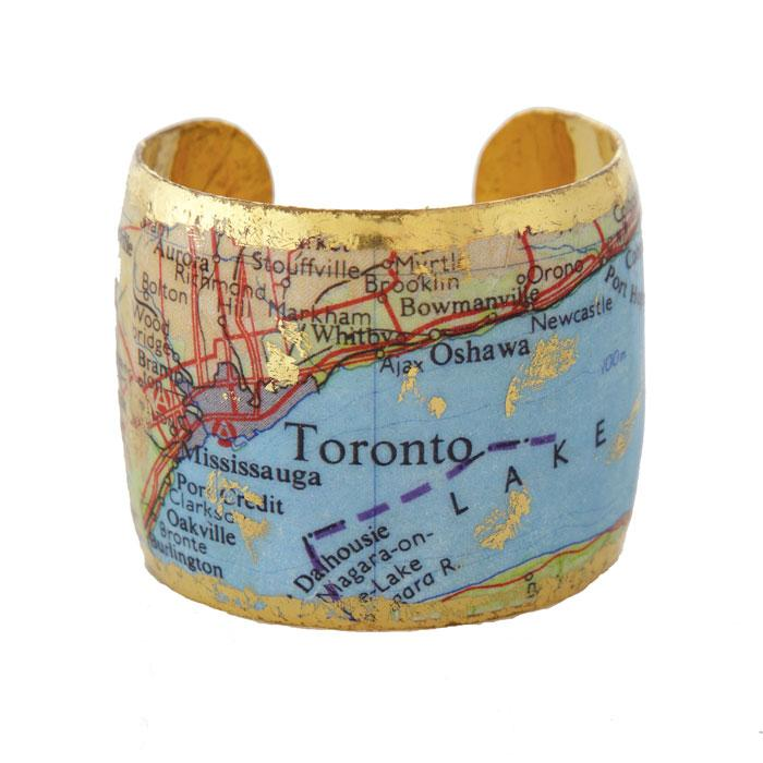 Toronto Map Cuff - VO1013-Evocateur-Renee Taylor Gallery