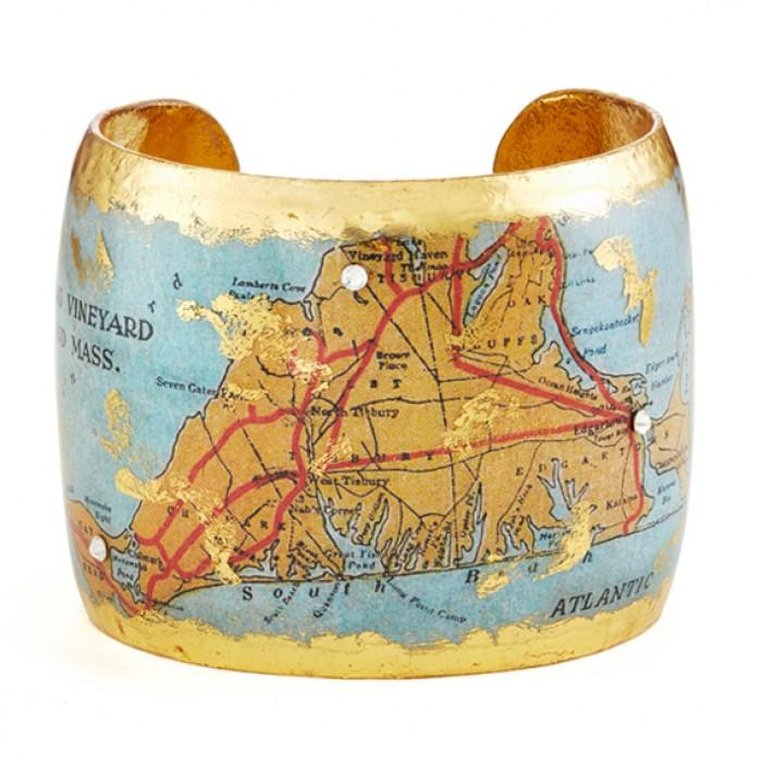 Martha's Vineyard Map Cuff - VO1030-Evocateur-Renee Taylor Gallery