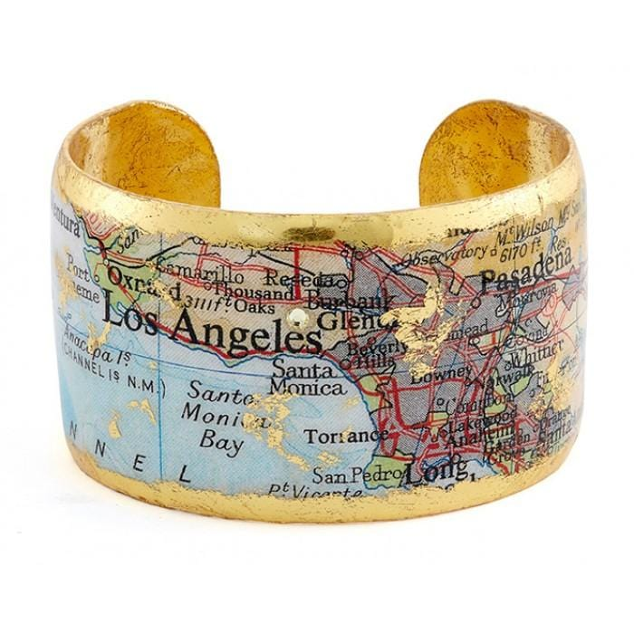 Los Angeles Map Cuff - VO1040-Evocateur-Renee Taylor Gallery