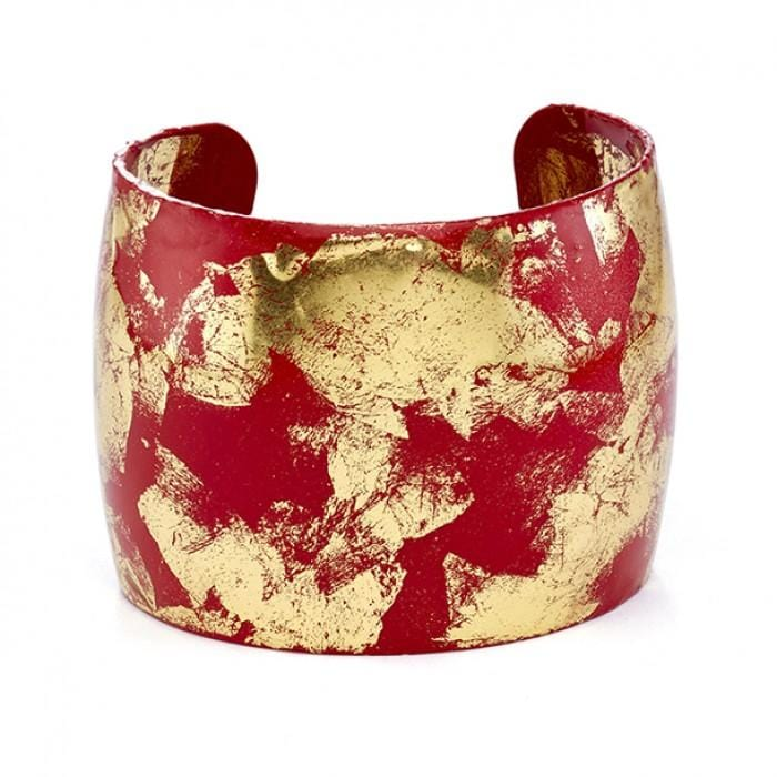 Island Red Cuff - VO1042-Evocateur-Renee Taylor Gallery
