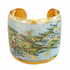 Long Island Map Cuff - VO1054-Evocateur-Renee Taylor Gallery