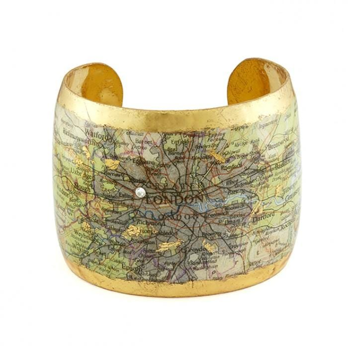 London Map Cuff - VO1095-Evocateur-Renee Taylor Gallery