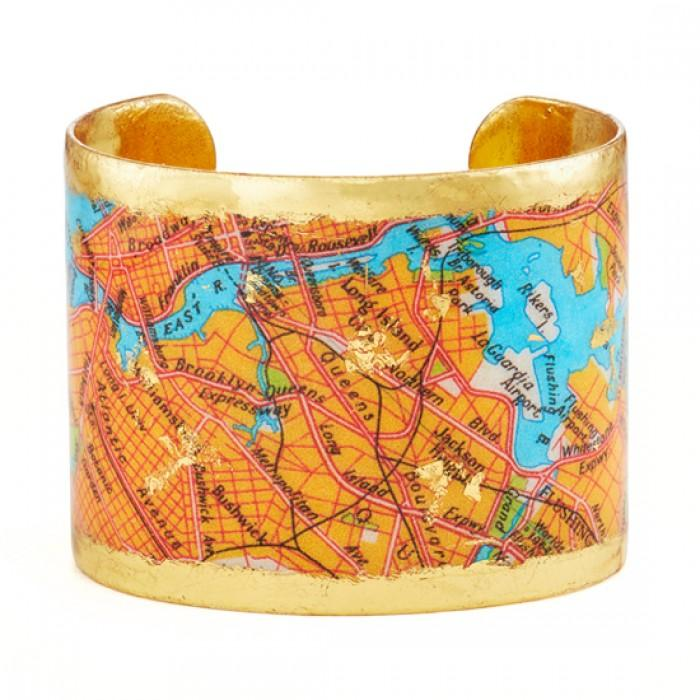 Brooklyn Queens Map Cuff - VO1109-Evocateur-Renee Taylor Gallery