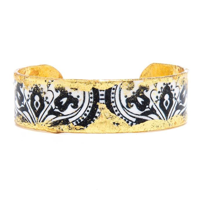 "New Orleans .75"" Gold Cuff - VO120-Evocateur-Renee Taylor Gallery"