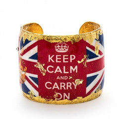 Keep Calm Cuff - VO149-Evocateur-Renee Taylor Gallery