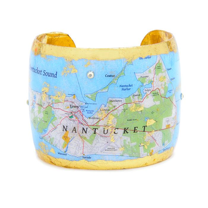 Nantucket Map Cuff - VO191-Evocateur-Renee Taylor Gallery