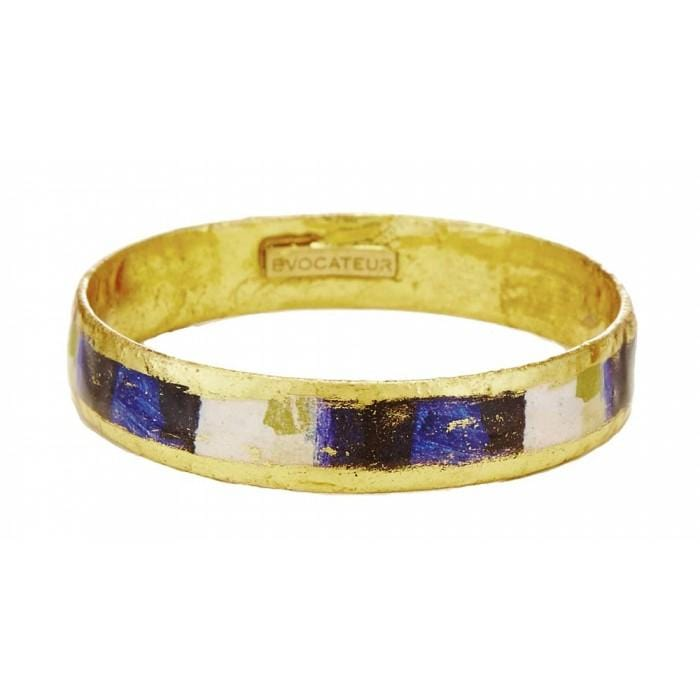 Berlin Blue Bangle - VO555-Evocateur-Renee Taylor Gallery