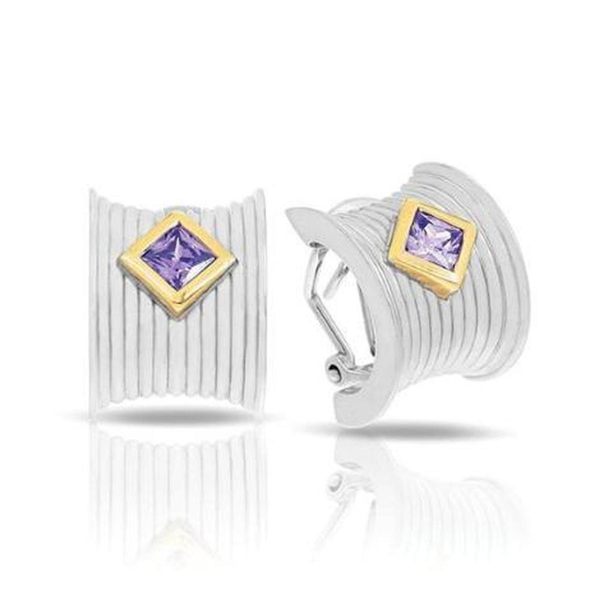 Valore Silver & Amethyst Earrings-Belle Etoile-Renee Taylor Gallery