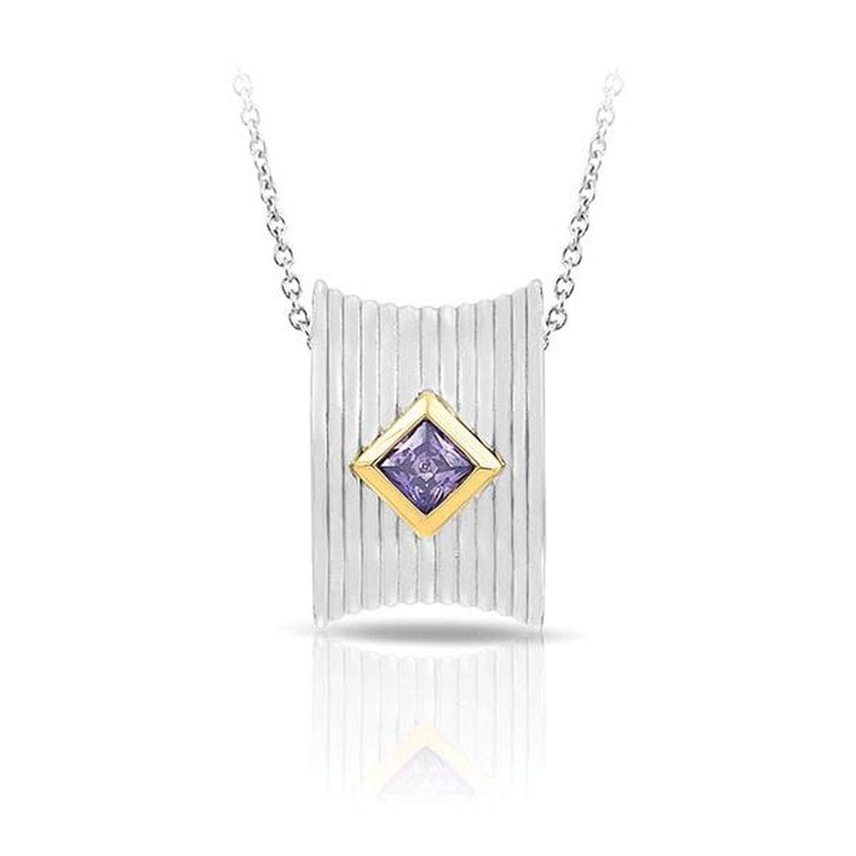 Valore Silver & Amethyst Pendant-Belle Etoile-Renee Taylor Gallery
