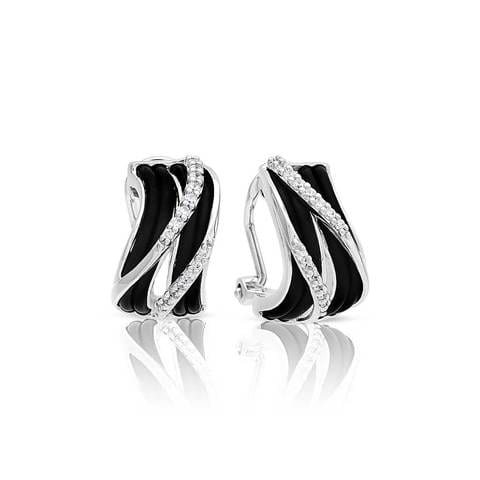 Venti Black Earrings-Belle Etoile-Renee Taylor Gallery
