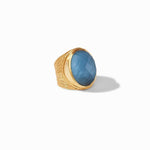 Verona Statement Gold Iridescent Azure Blue Ring - R147GIAB-Julie Vos-Renee Taylor Gallery