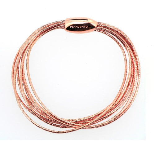 DNA Spring Thin Rose Gold Bracelet - WDNAB051-Pesavento-Renee Taylor Gallery