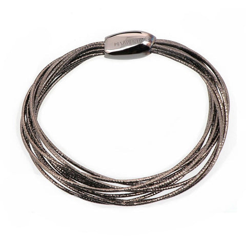 DNA Spring Thin Ruthenium Bracelet - WDNAB052-Pesavento-Renee Taylor Gallery