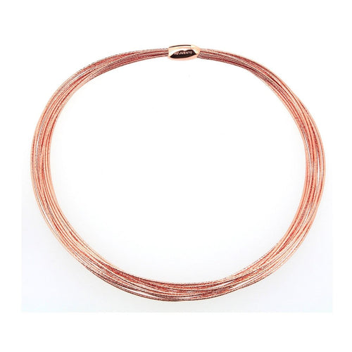 DNA Spring Thin Rose Gold Necklace - WDNAG031-Pesavento-Renee Taylor Gallery