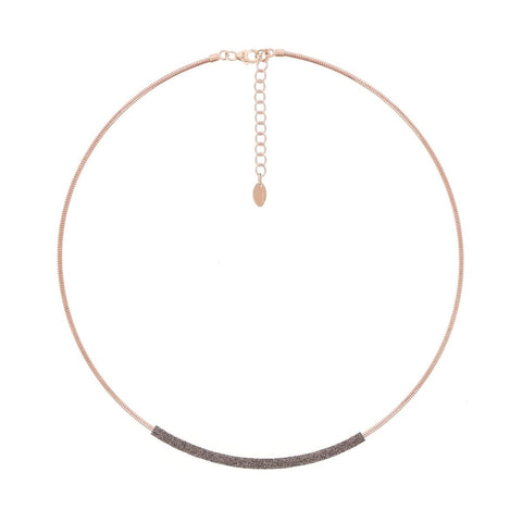 DNA Spring Single Strand Rose Gold Antelope Polvere Necklace - WDNAG181-Pesavento-Renee Taylor Gallery