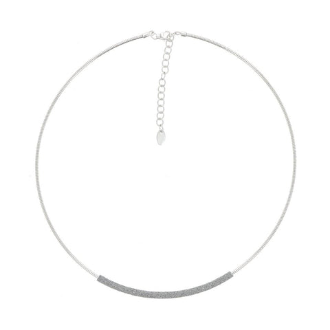DNA Spring Single Strand Rhodium Light Gray Polvere Necklace - WDNAG183-Pesavento-Renee Taylor Gallery