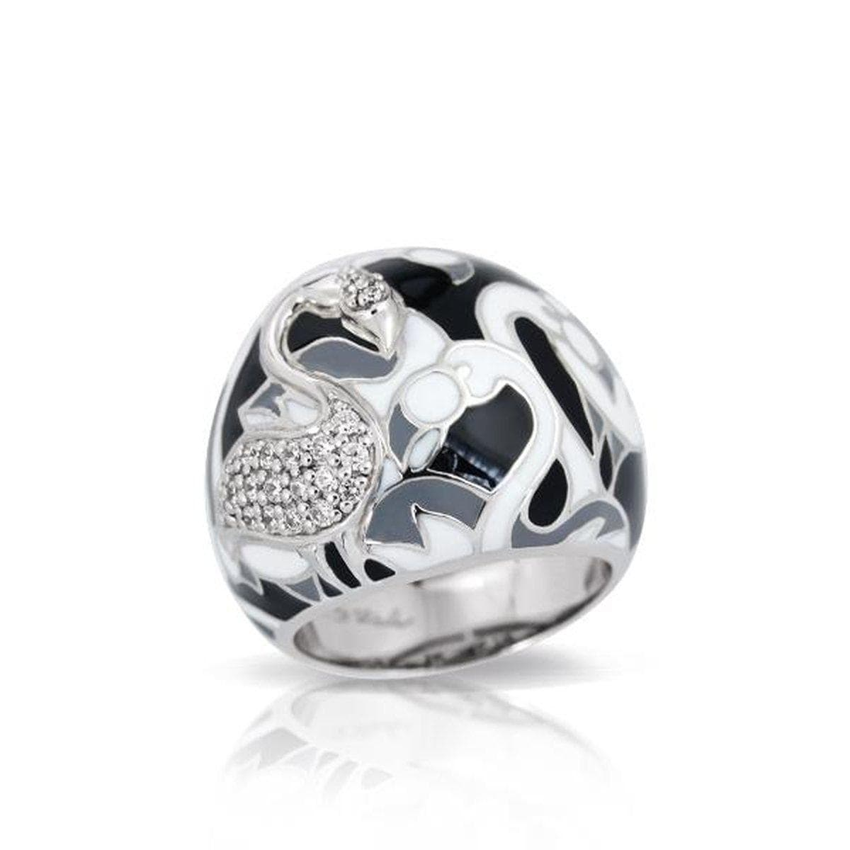 Flamingo Black & Multi Ring-Belle Etoile-Renee Taylor Gallery