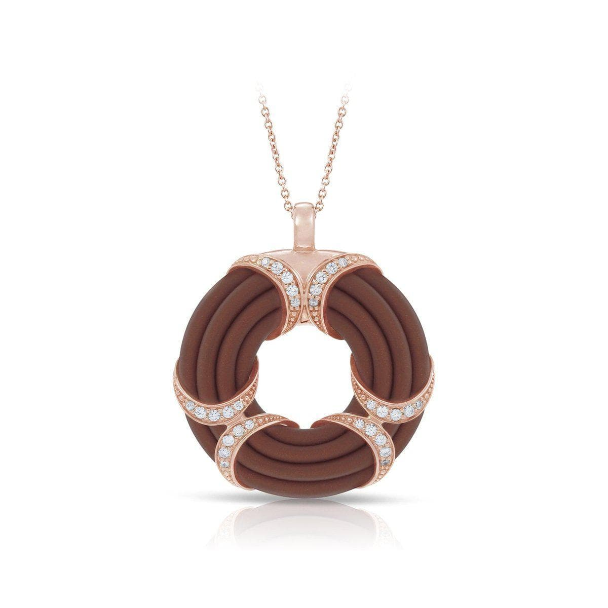 Xena Brown and Rose Pendant-Belle Etoile-Renee Taylor Gallery