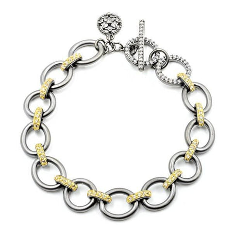 Signature Perfect Chunky Link Bangle - YRZ070342B-1-Freida Rothman-Renee Taylor Gallery